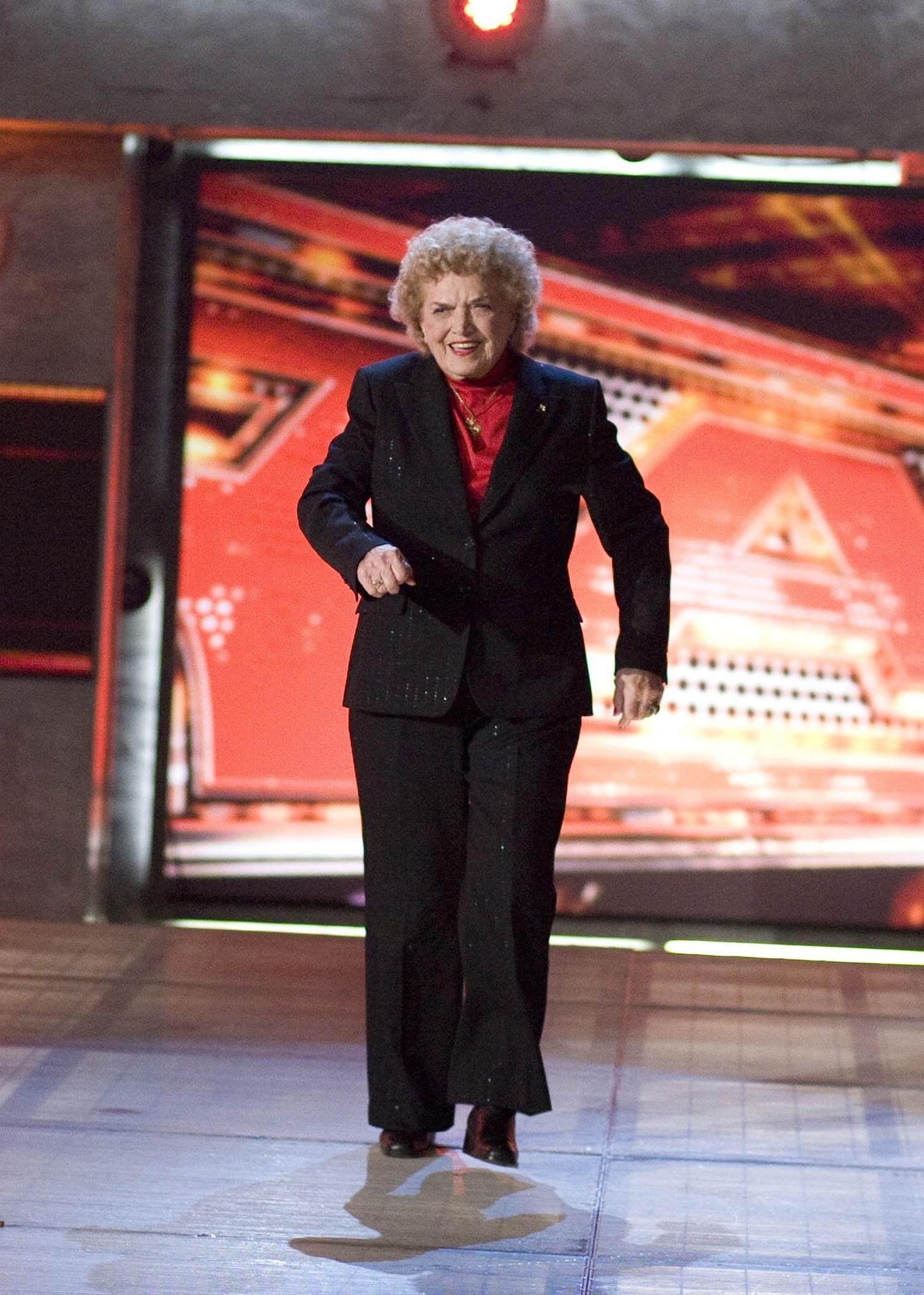 Johnnie Mae Young, a pioneering female wrestler and World Wrestling Entertainment Hall of Fame member, is pictured in this World Wrestling Entertainment, Inc.