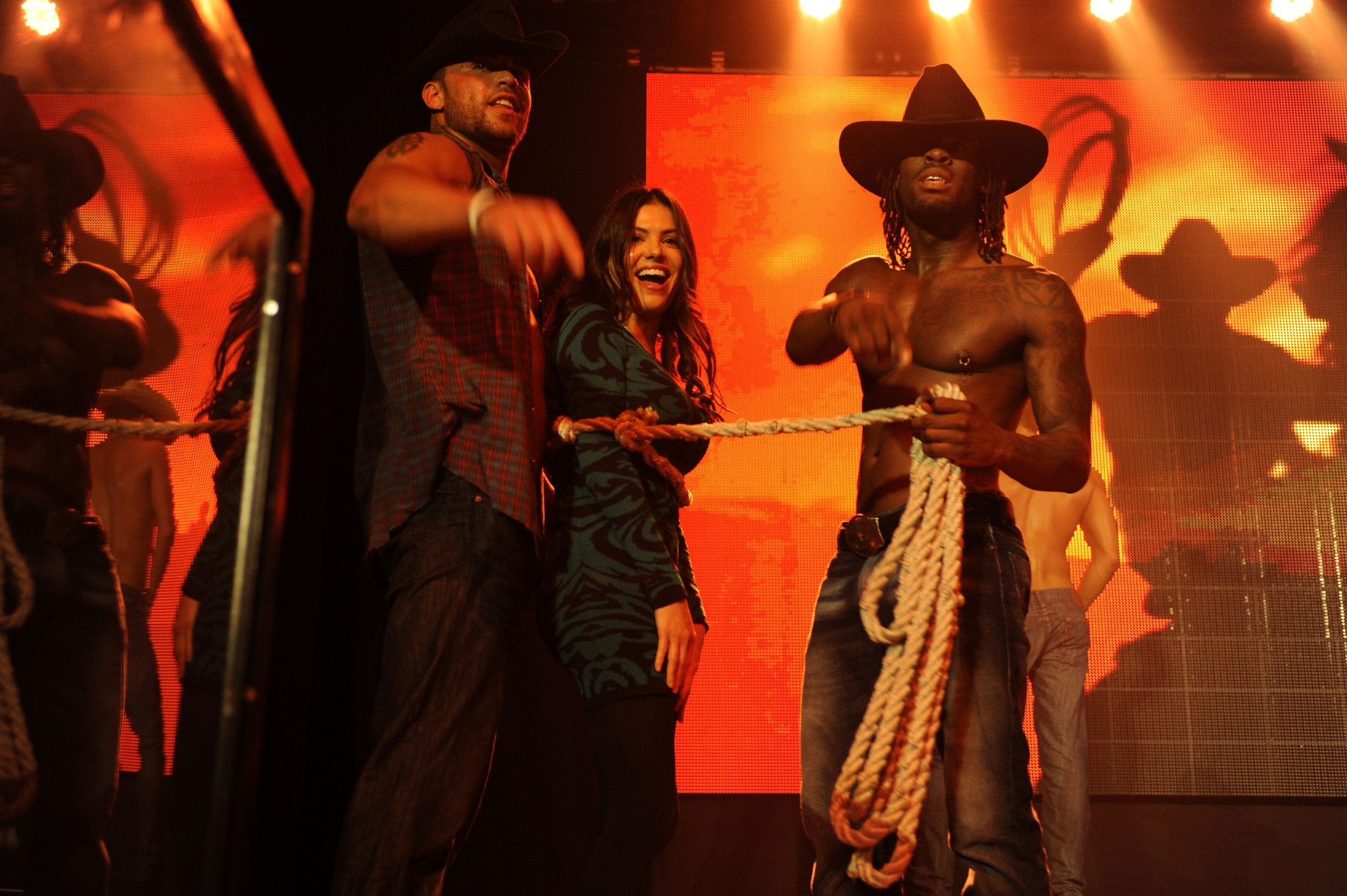 Chippendales open in Miami Beach - Adriana De Moura and Chippendales