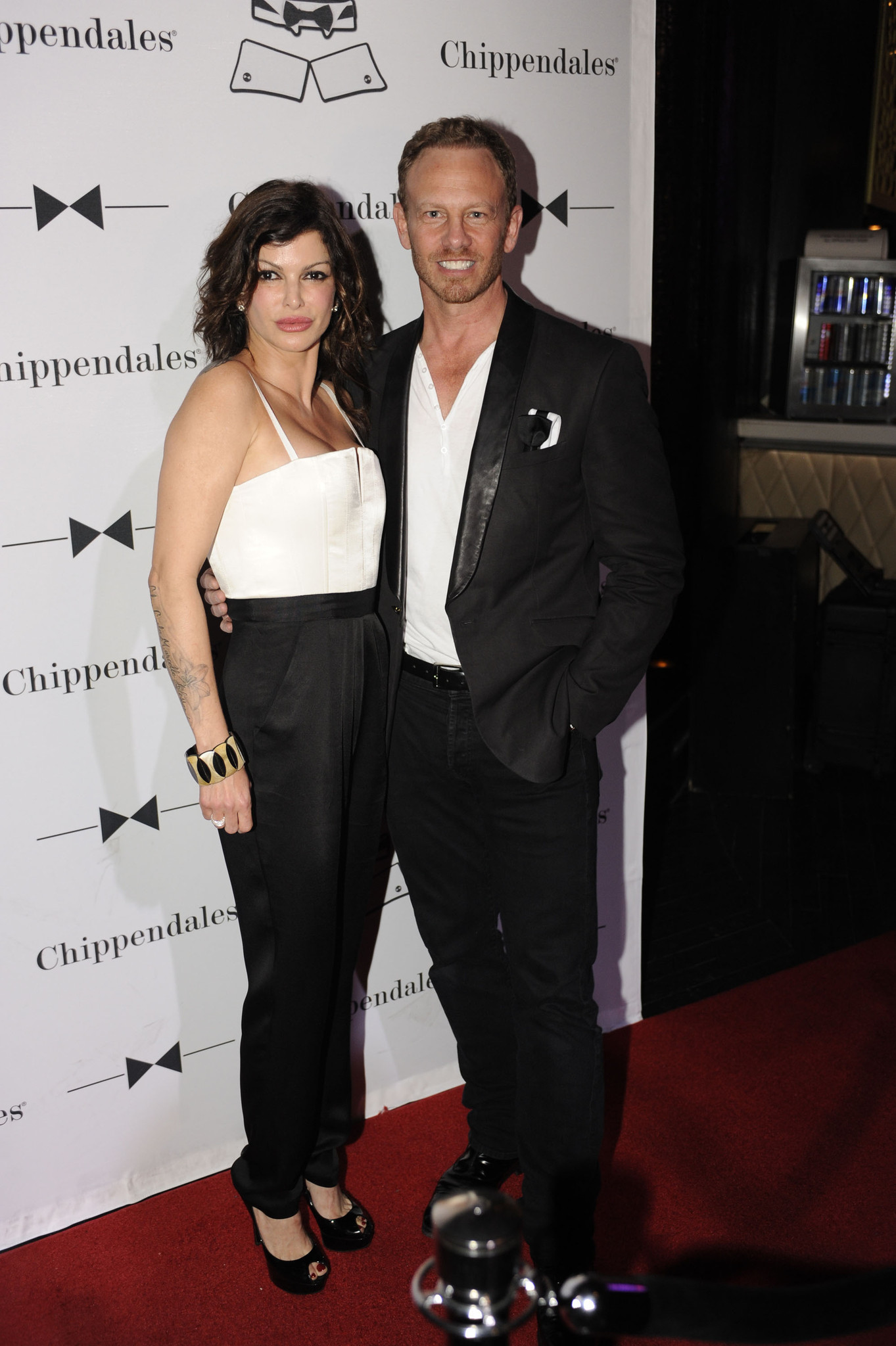 Chippendales open in Miami Beach - Carla Pellegrino and Ian Ziering