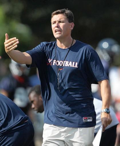 Virginia assistant coach Bill Lazor