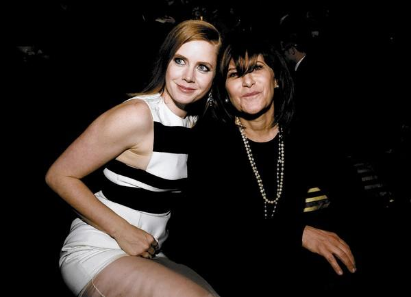 "Sony Pictures co-Chair Amy Pascal, right, with actress Amy Adams, who won a Golden Globe for her work in the Columbia Pictures and Annapurna Pictures' ""American Hustle"" on Sunday."
