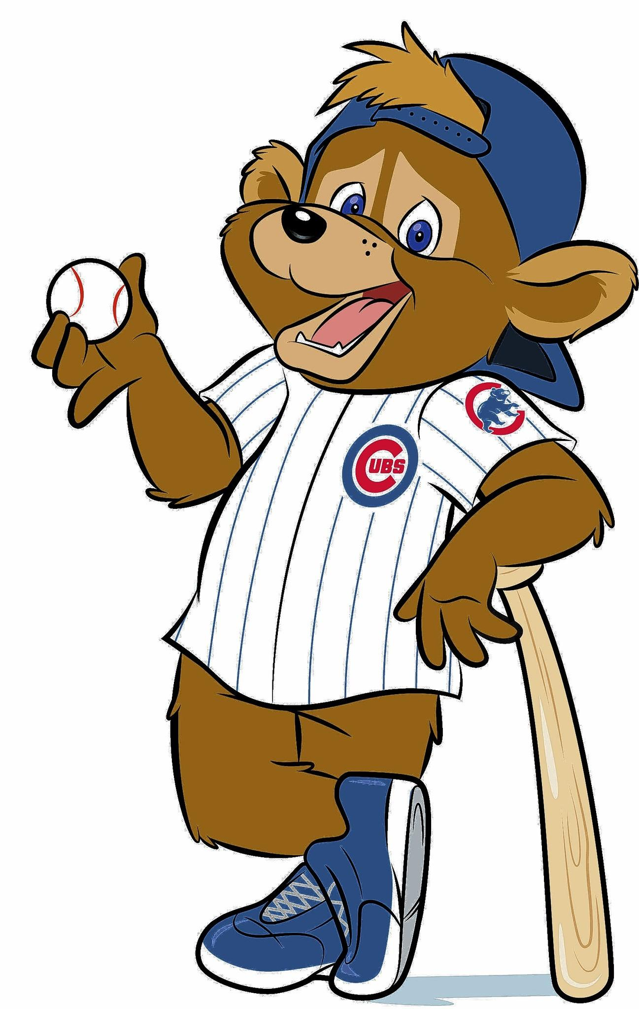 A drawing depicts the Cubs' new mascot Clark the Cub.