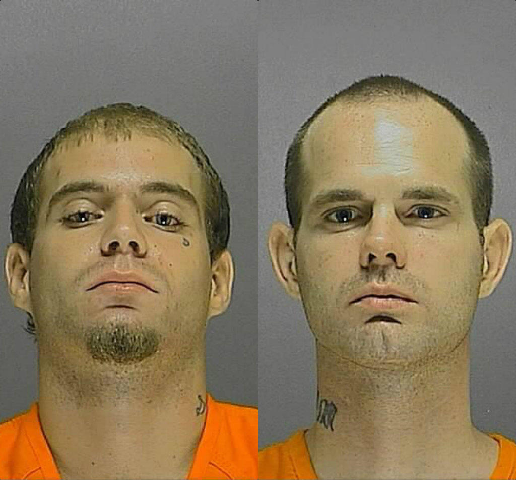Bradley Adam Suntich (left) and Tyler McClain were indicted on charges of first-degree murder, attempted first-degree murder, robbery with a deadly weapon and grand theft auto after the June 2011 attack.