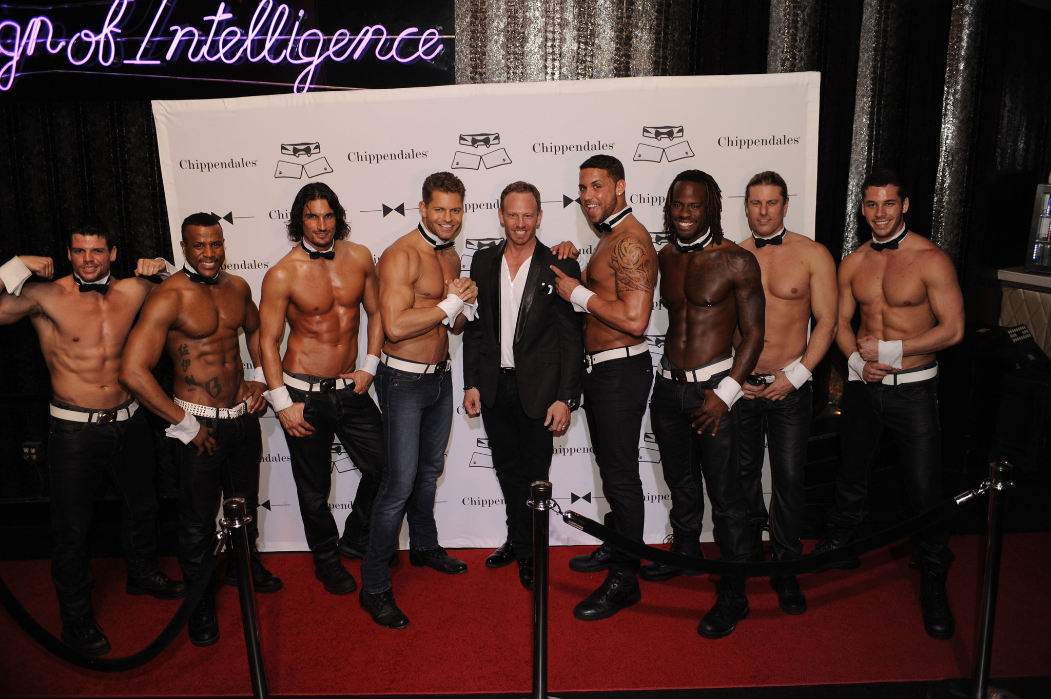 Chippendales open in Miami Beach - Ian Ziering and Chippendales