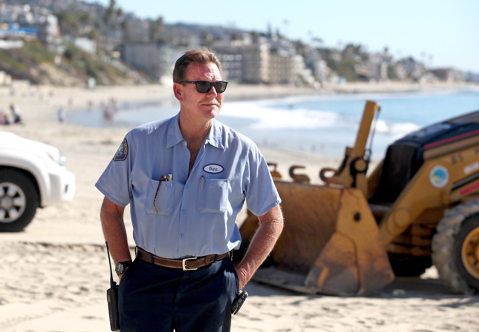 John O'Hara is retiring after 34 years on the job for the Laguna Beach Public Works department, working places like Main Beach, above.