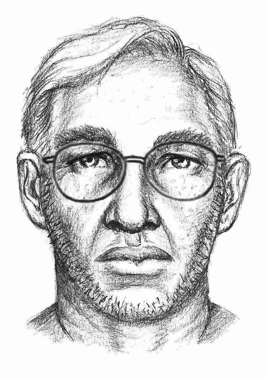 Sketch of suspect in abduction of young girl in Isle of Wight last year.