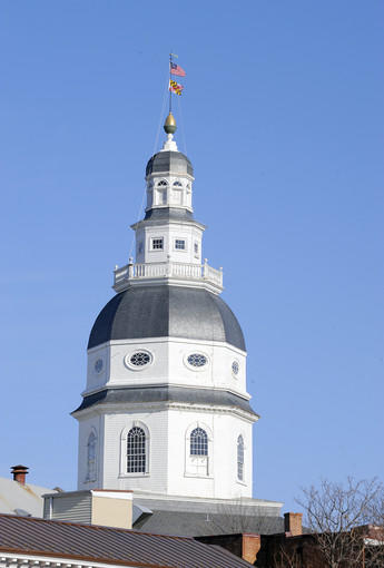 Completed in 1779, the Maryland State House in Annapolis is the oldest state house still in legislative use. It was designated a National Historic Landmark in 1960. This is where the Maryland General Assembly convenes. Self-guided tours are available to the public daily.  100 State Circle, Annapolis msa.md.gov
