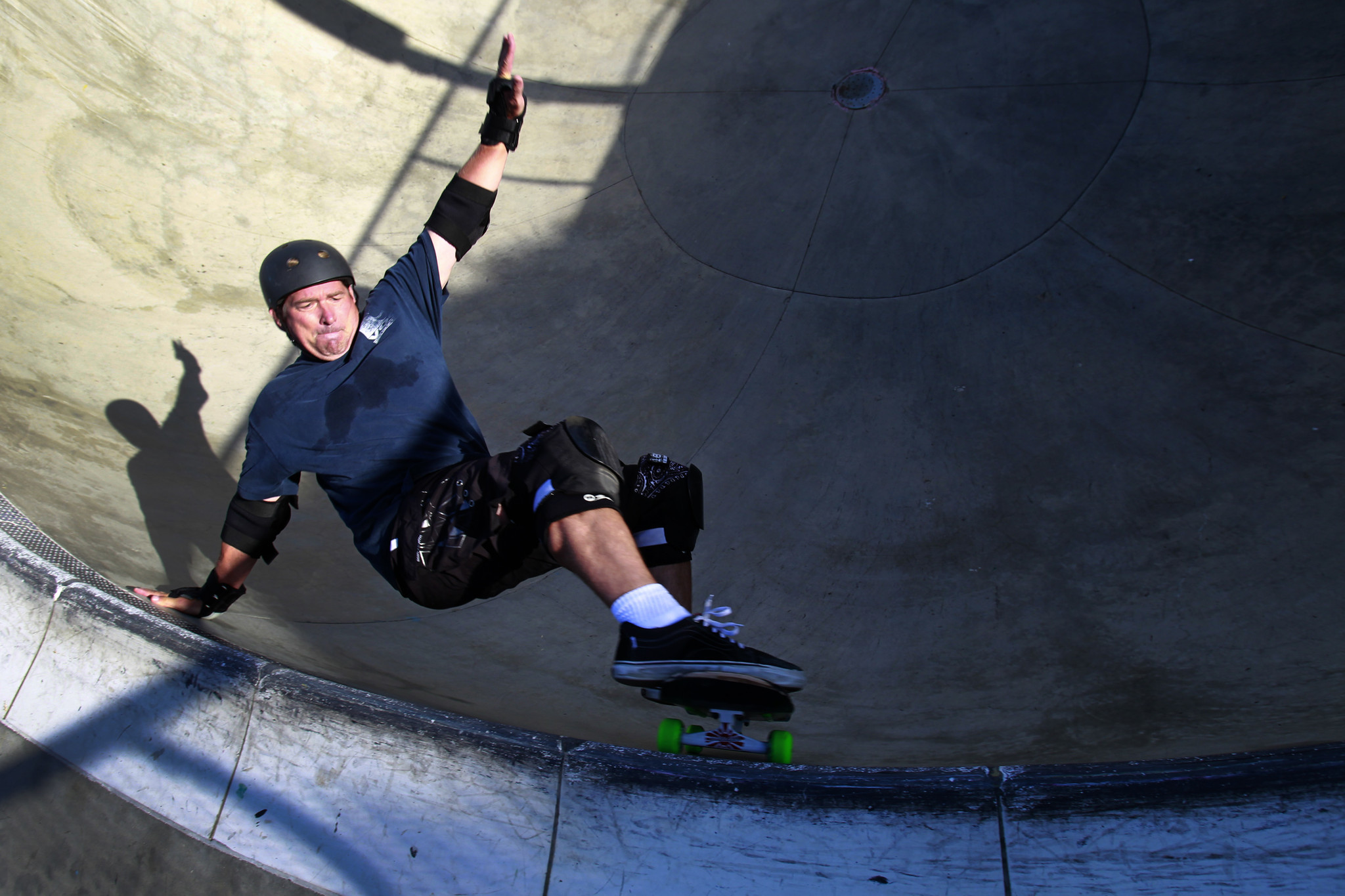 Middle-aged skateboarders defy family skeptics, and falls