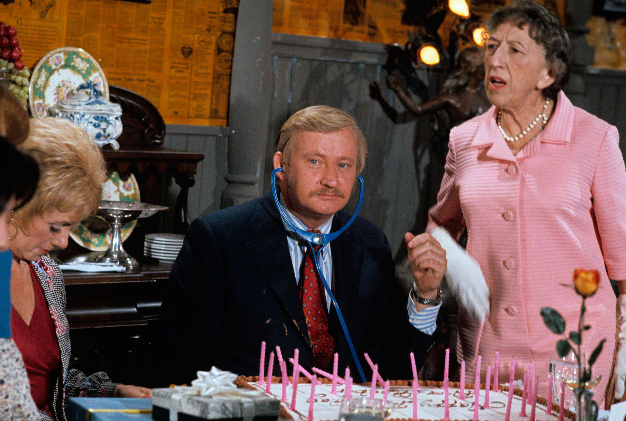 "Actor Dave Madden, pictured here while on ""The Partridge Family"" in 1973, died on January 16 at 82."