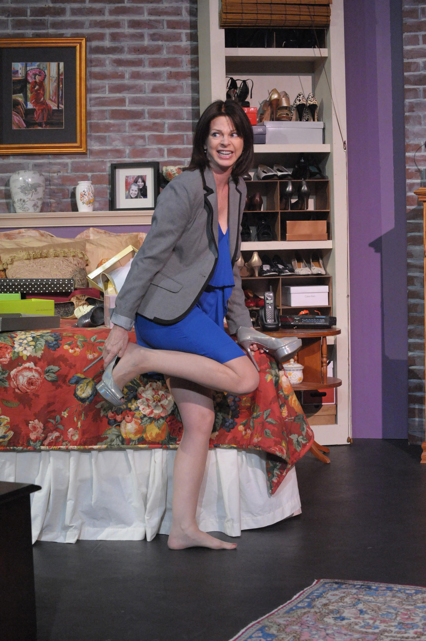 Janet Luby in Bay Theatres production of Bad Dates, on stage through Jan. 24 at the Chesapeake Arts Center.