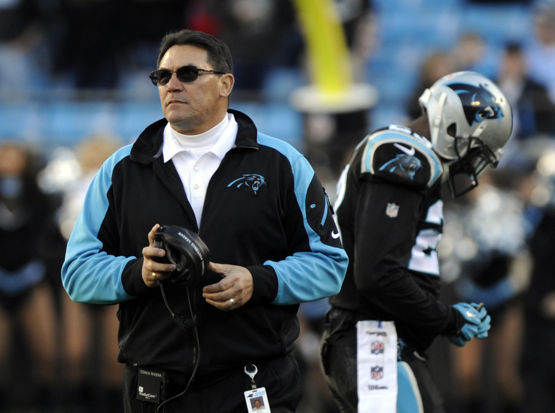 Panthers coach Ron Rivera reacts during the fourth quarter against the 49ers.