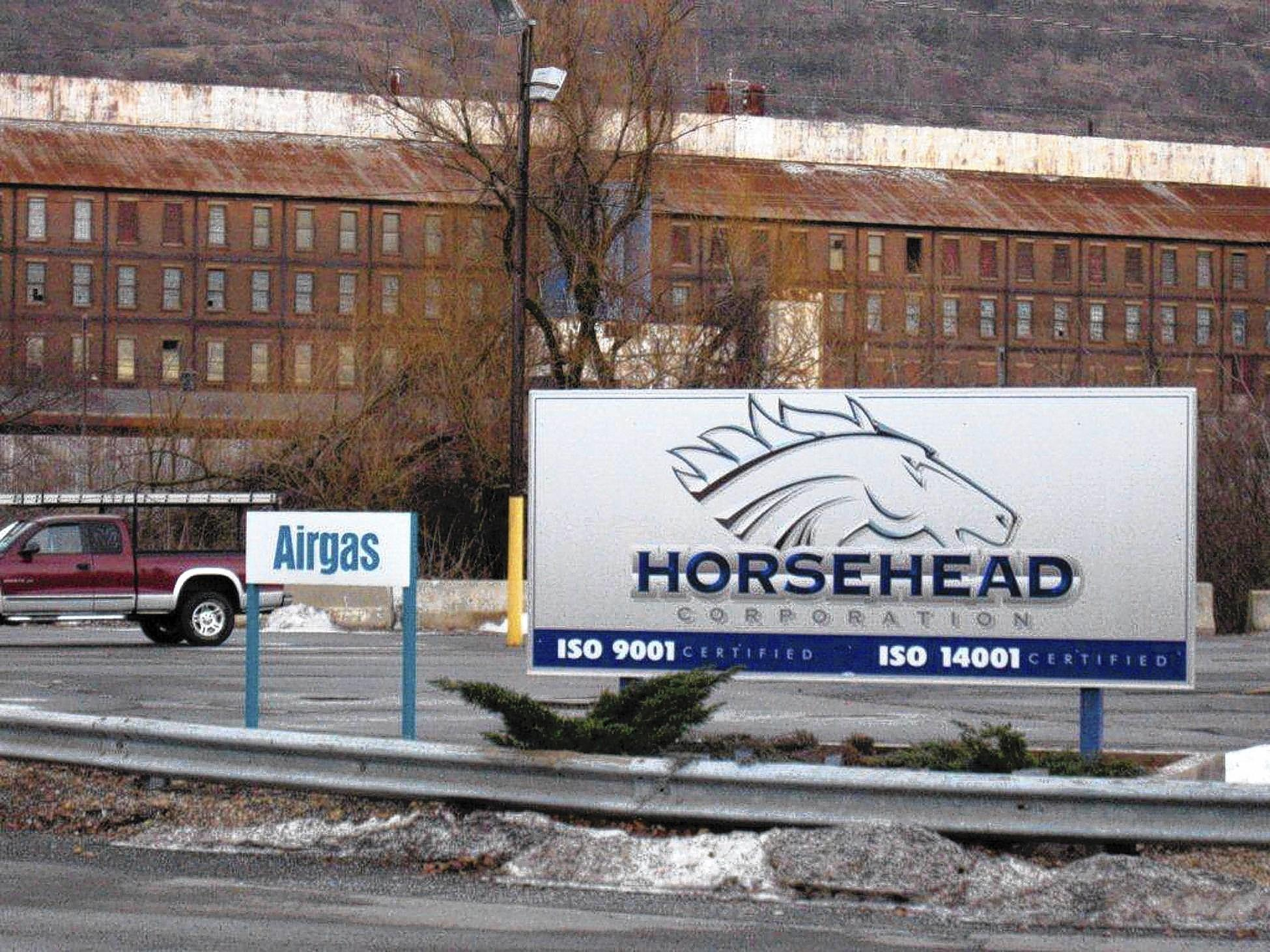 Access to the Airgas plant in Palmerton is restricted, but a sign at the Horsehead Industries entrance reveals its location in a federal Superfund site.