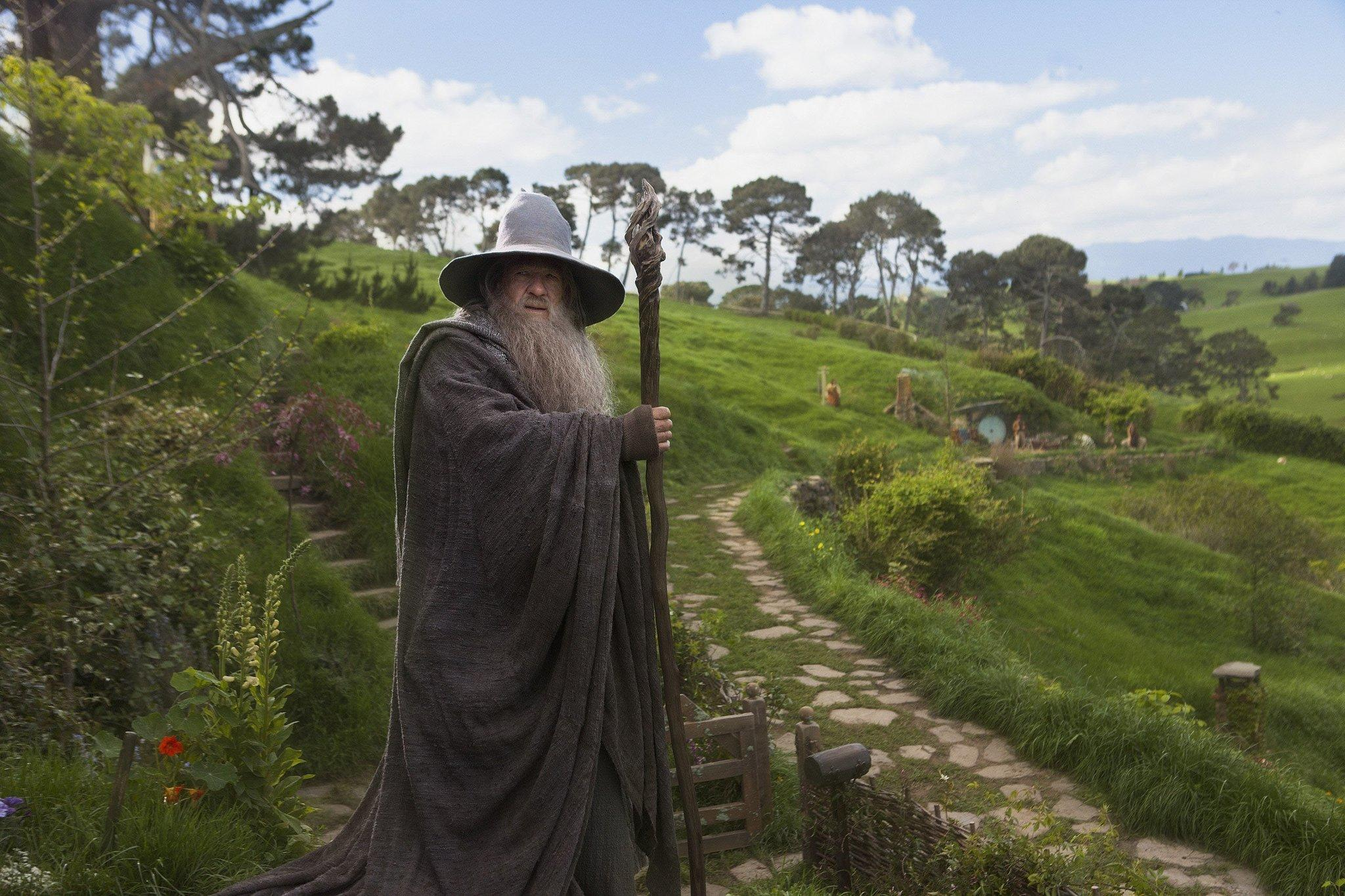 "Gandalf in Hobbiton in a scene from ""The Hobbit: The Desolation of Smaug."" You can tour the sites where the movie was shot."