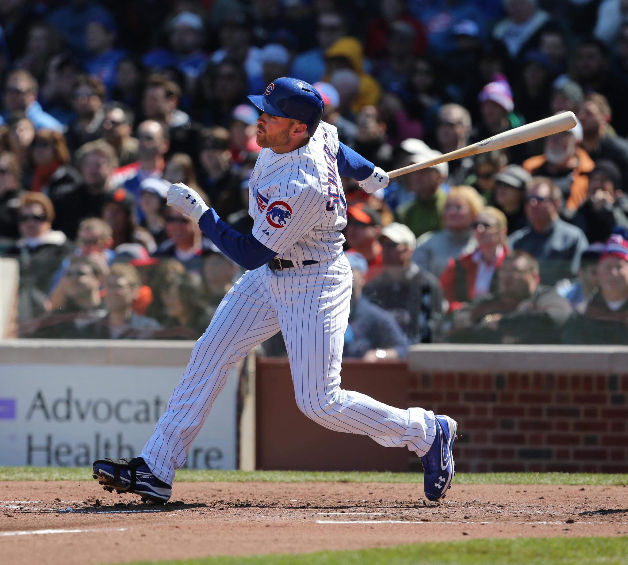 Chicago Cubs outfielder Nate Schierholtz.