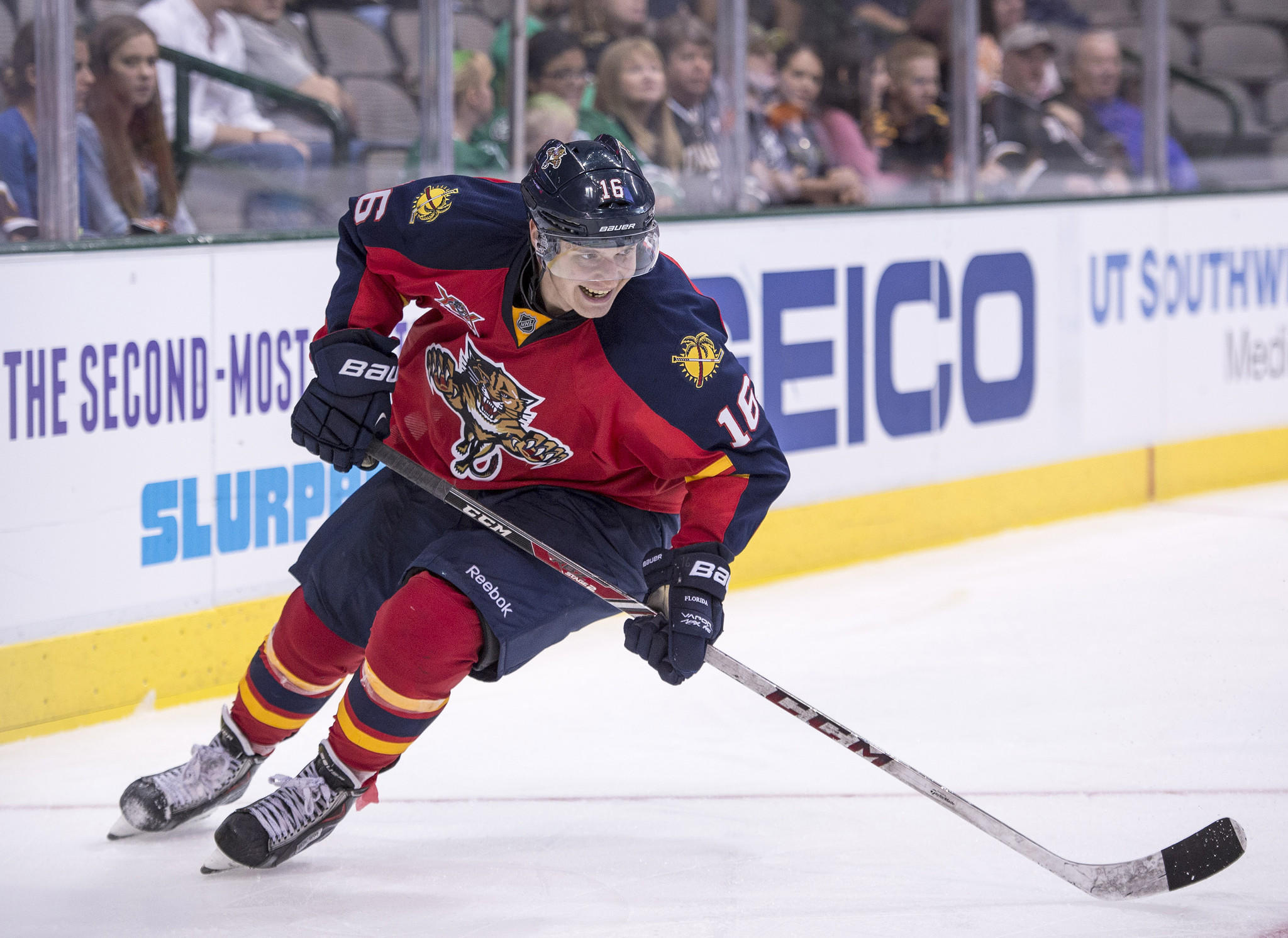 Florida Panthers player Aleksander Barkov will play hockey in the Olympics for Finland.