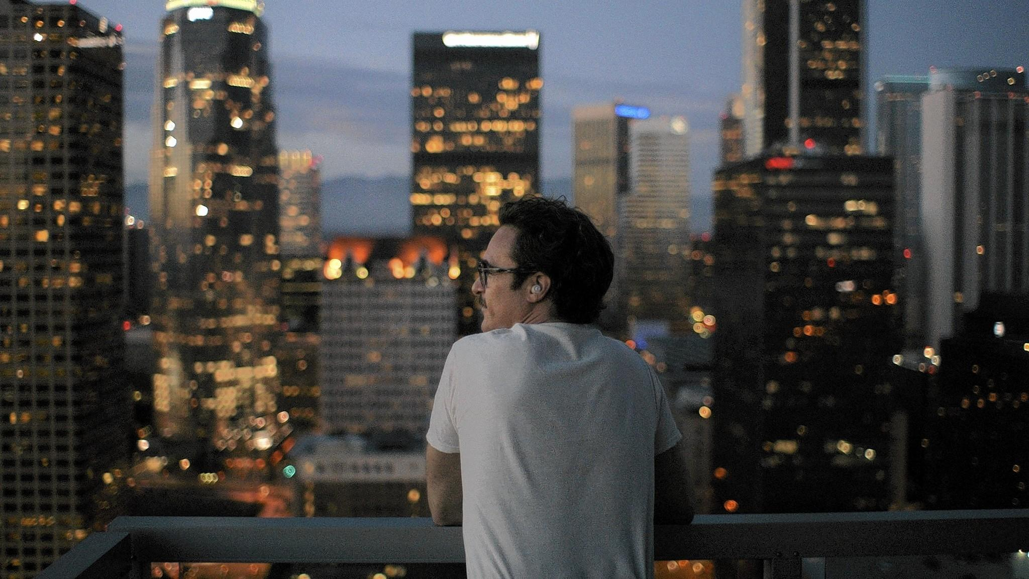 "The sparkling L.A. skyline in Spike Jonze's ""Her,"" starring a lovelorn Joaquin Phoenix, underwent digital enhancement."