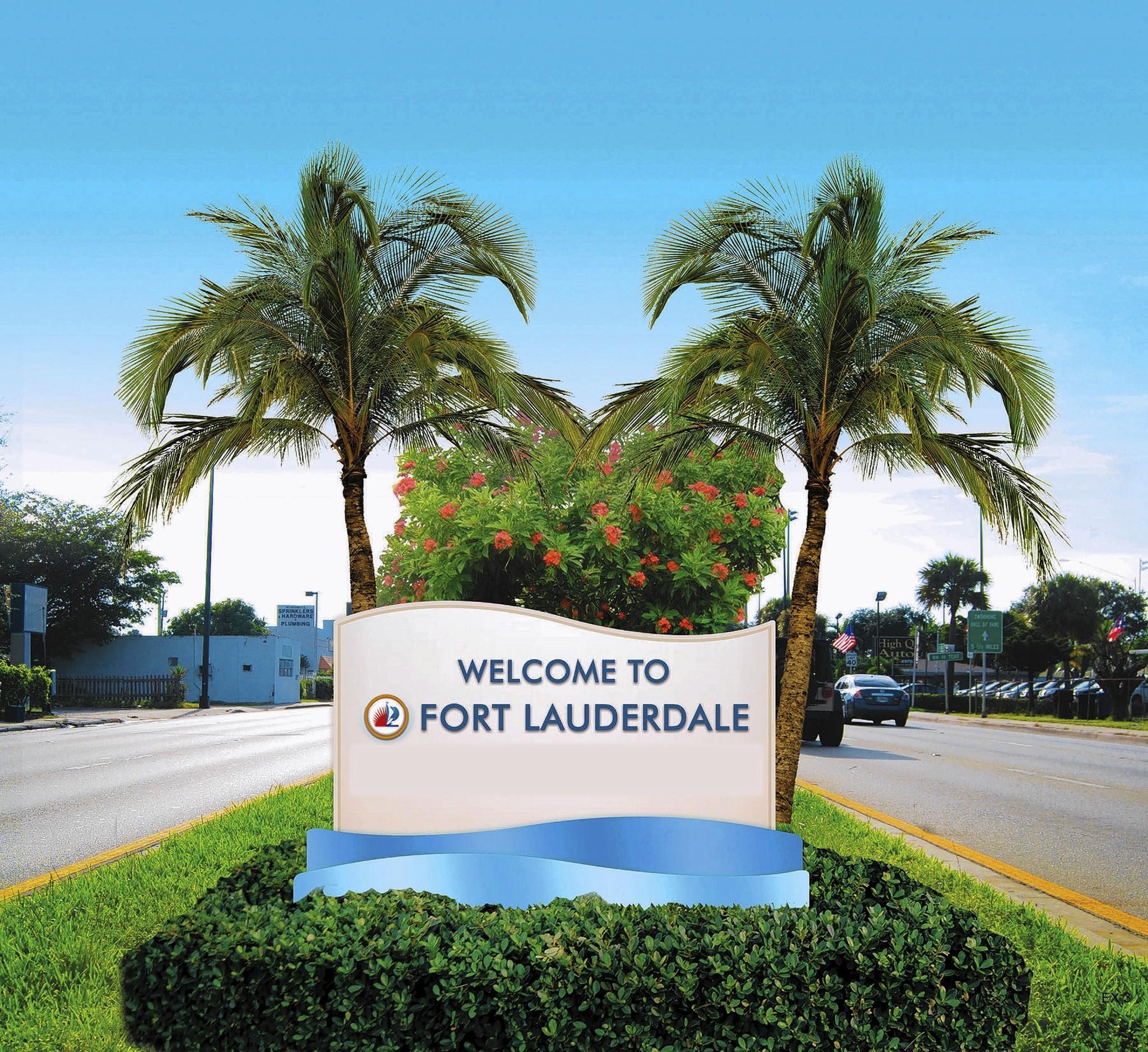 Rendering of planned entranceway medians in Fort Lauderdale.