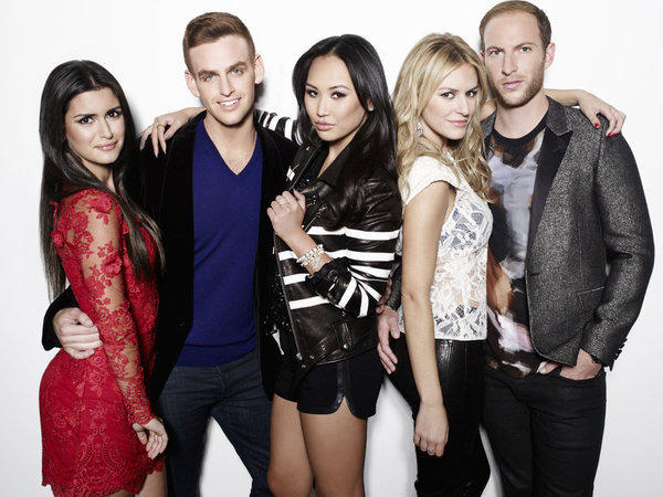 "Roxy Sowalty (from left), Jonny Drubel, Dorothy Wang, Morgan Stewart and Brendan Fitzpatrick of E! network's ""#RichKids of Beverly Hills."""