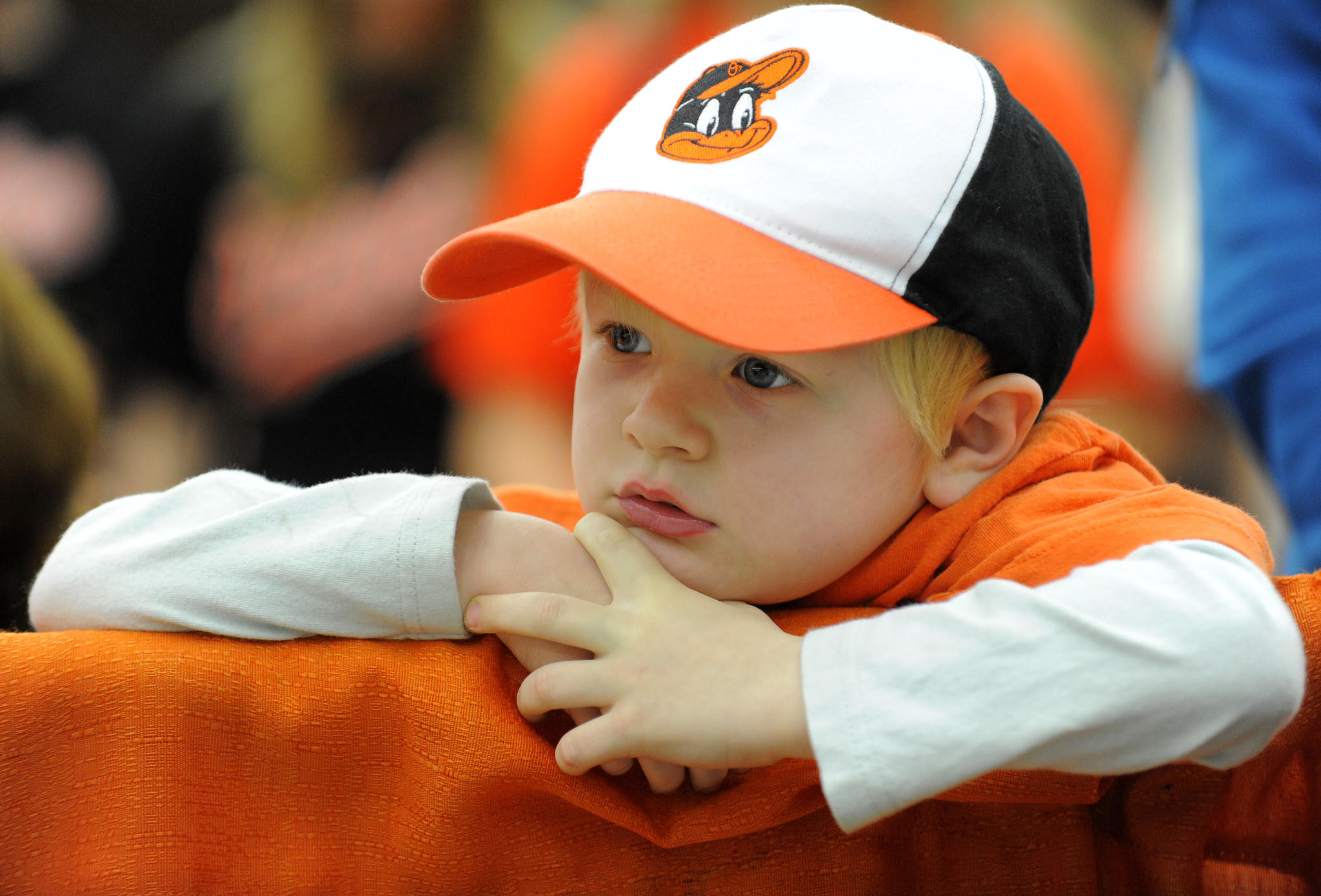 Chene Wyndham, 5, of Hanover takes in Orioles FanFest last year.