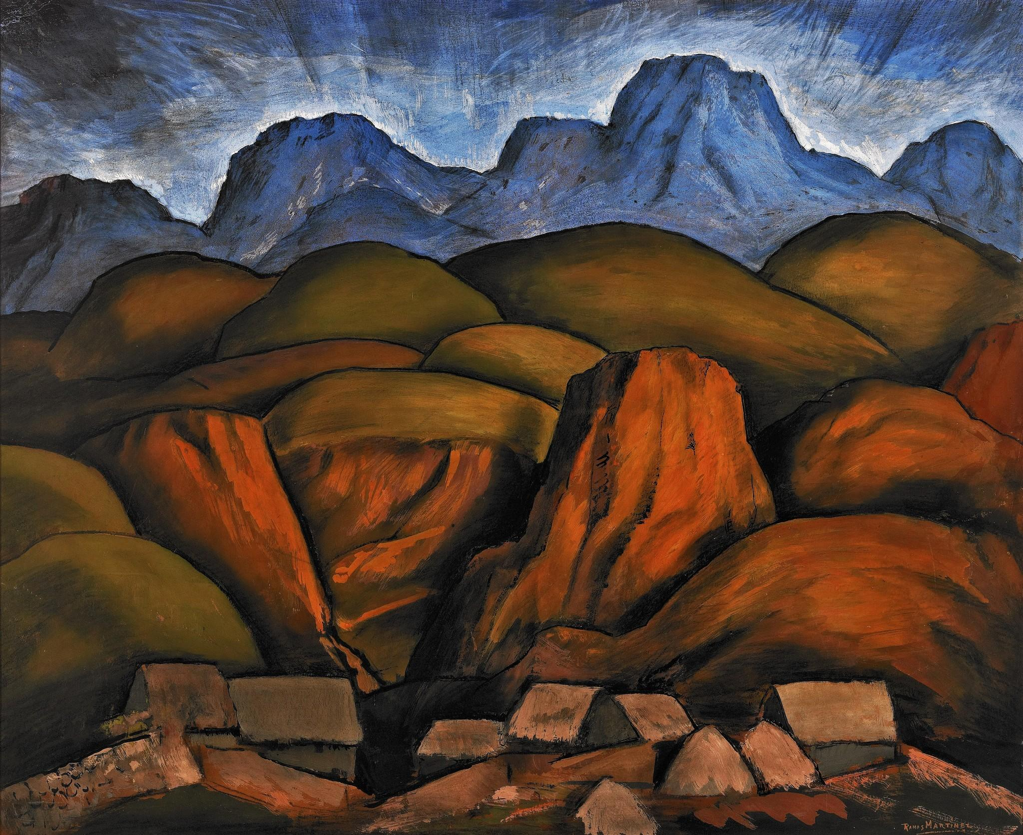 Mexican Landscape Artists Mexican Landscape Circa 1935