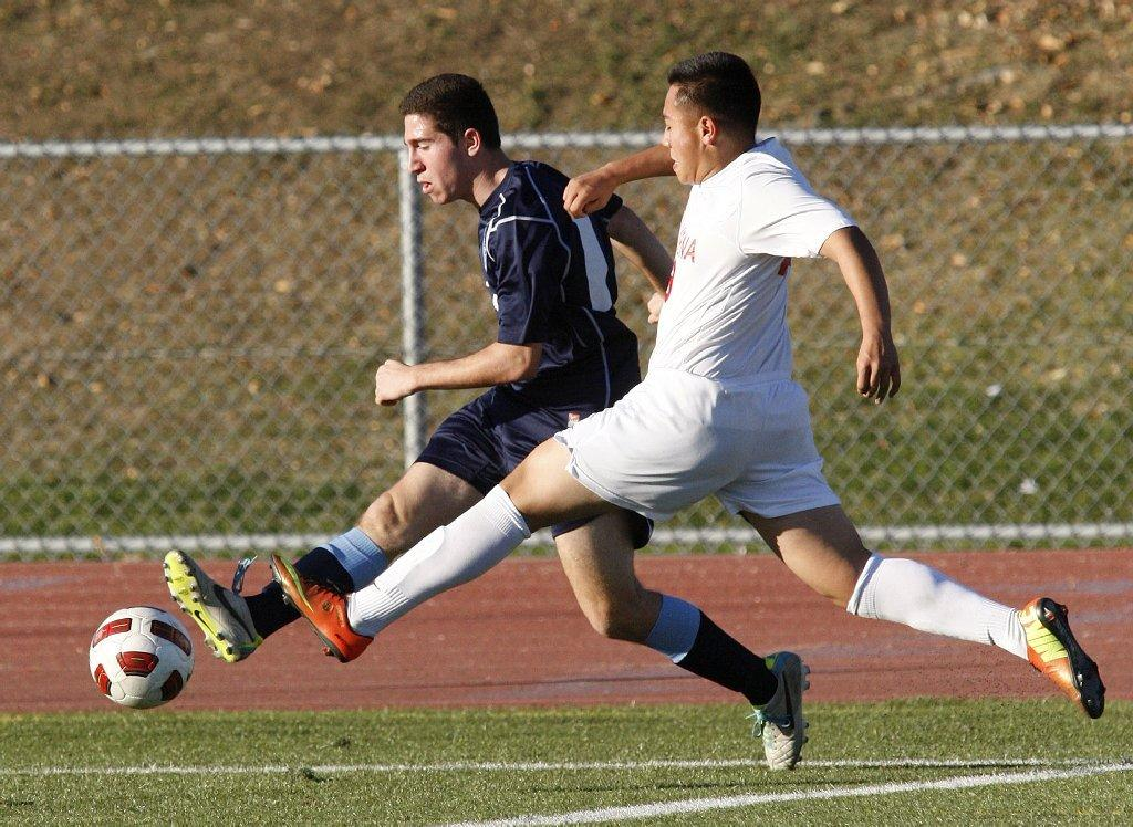 Chris Sinani and the Crescenta Valley boys' soccer team lost to Pasadena, 3-1, on Friday.