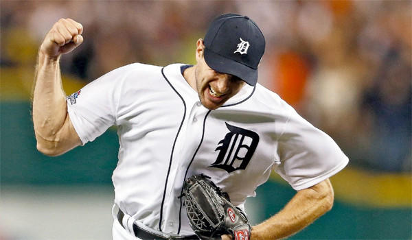 Max Scherzer won 21 games for the Detroit Tigers last season while striking out 240 batters and allowing 56 walks.