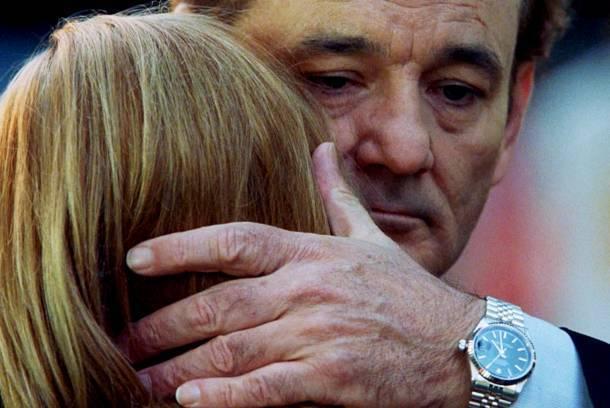 """Bill Murray whispers into Scarlett Johannson's ear in 2003's """"Lost in Translation."""""""