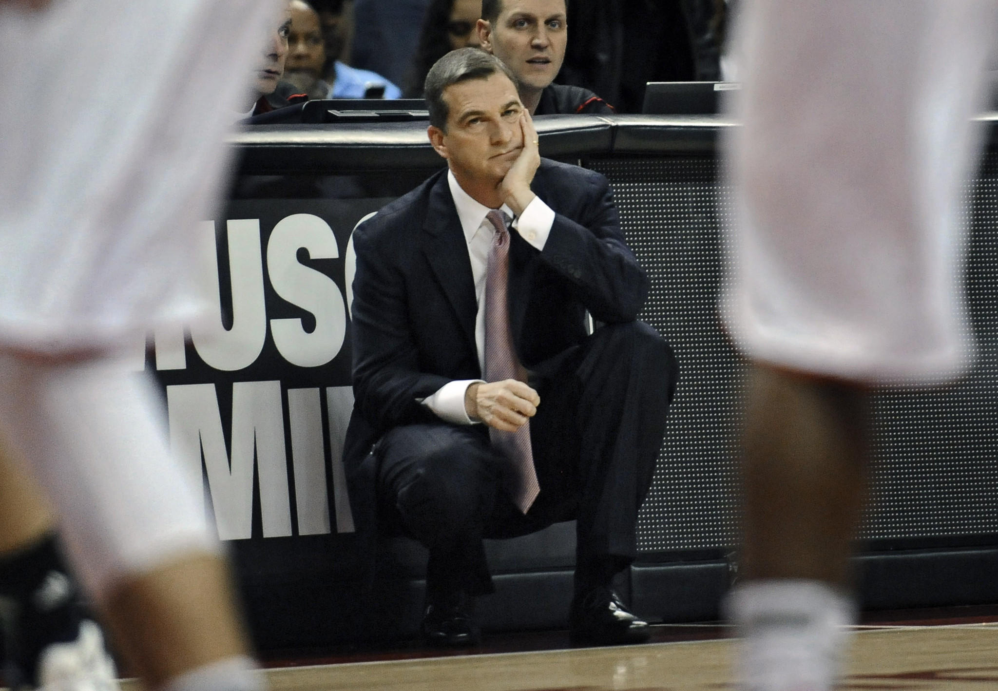 Maryland coach Mark Turgeon can't manage a happy face during a stretch of poor play against Notre Dame on Wednesday.