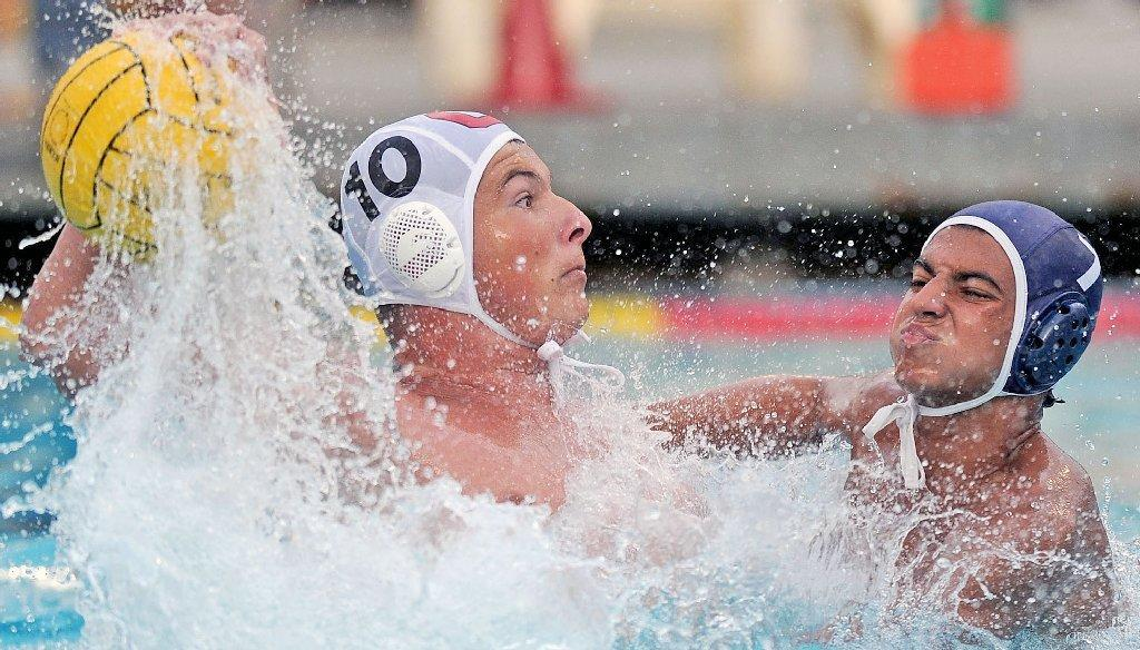 Glendale High's Arman Momdzhyan (left) was recently named both an All-American and an All-Southern California boys' water polo selection after a brilliant 2013 season. (File Photo by Libby Cline)