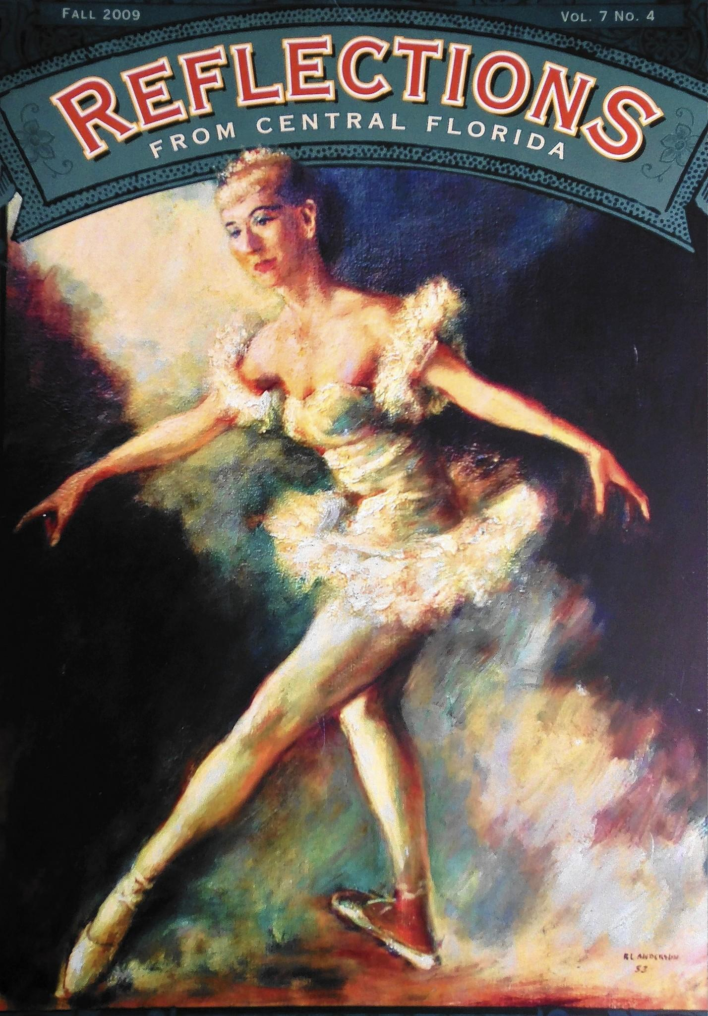 """A 1953 portrait of Edith Royal by the artist Robert Anderson appeared on an issue of the Orange County Regional History Center's magazine. The painting was part of a gift to the museum in 2009 by Royal's friends Carol Meyer Parker, Pat Howard and Jane McNulty. Royal has often been called """"the mother of dance in Central Florida."""""""