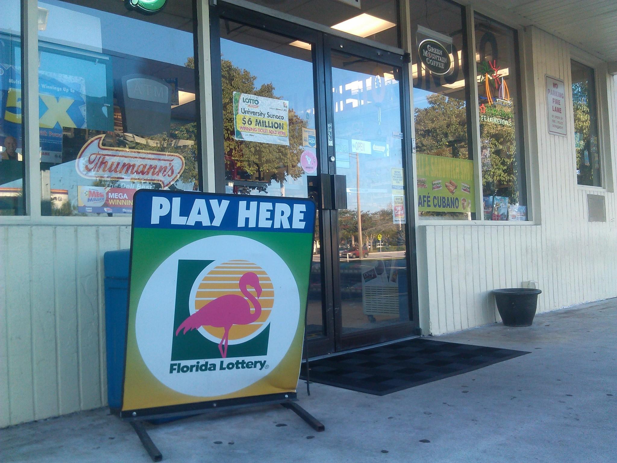 Vic's Sunoco at 8291 N. University Drive in Tamarac sold the $12 million winning Lotto ticket.