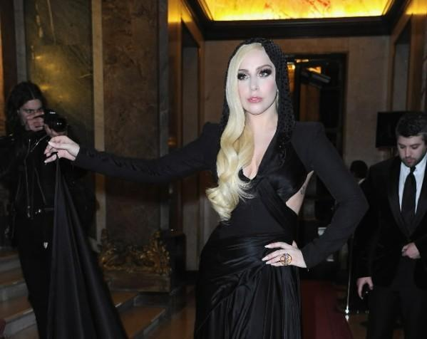 Pop star Lady Gaga attends the Atelier Versace show as part of Paris Fashion Week Haute Couture Spring/Summer 2014 Jan. 19, 2014 in Paris, France.