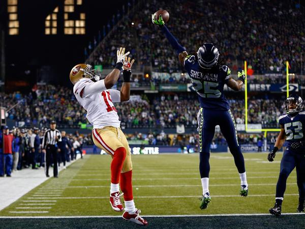 Seahawks versus 49ers in the NFC title game.