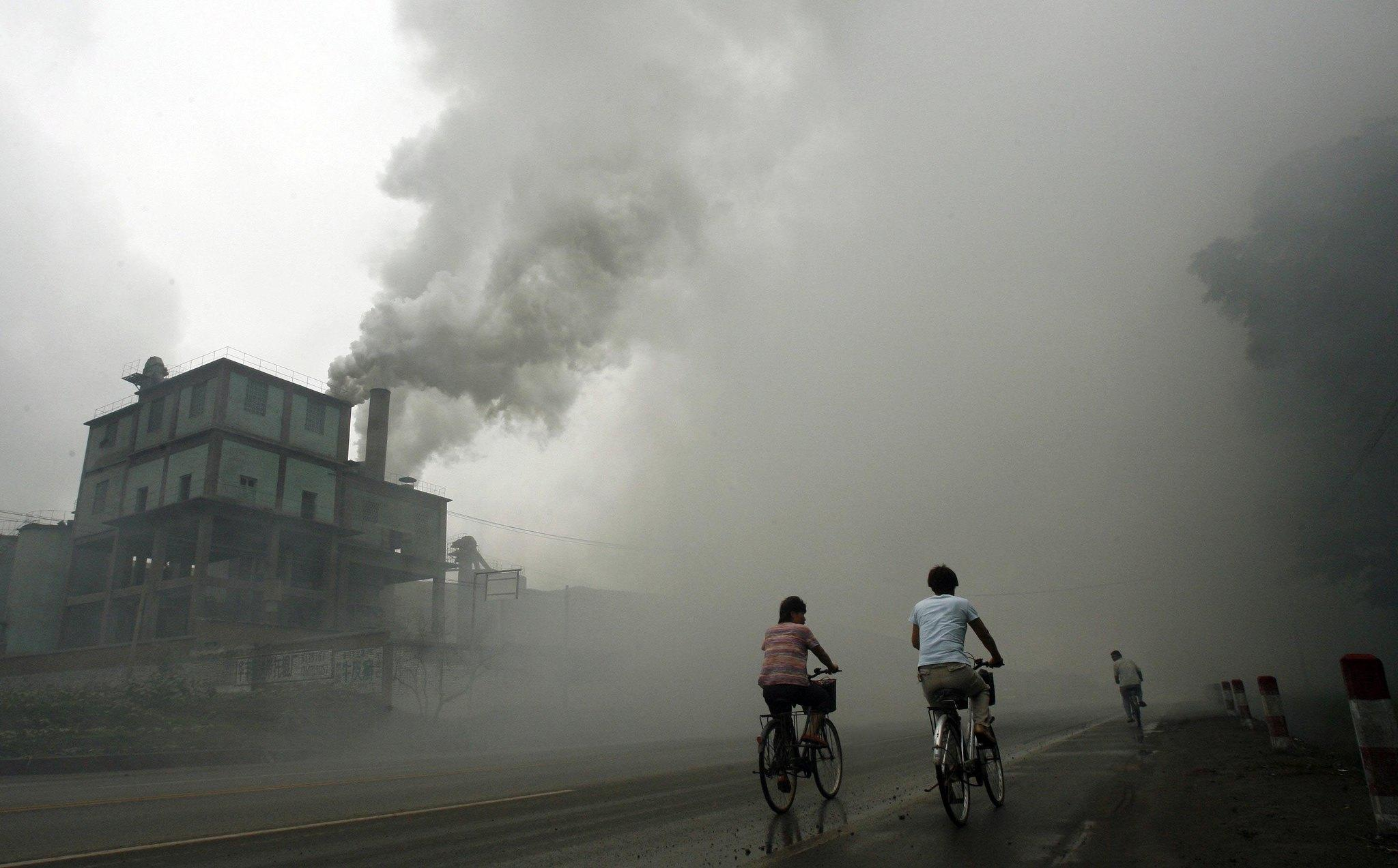 A study found that China's export industry is responsible for pollution that blows across the Pacific Ocean and contributes to smog in the United States.