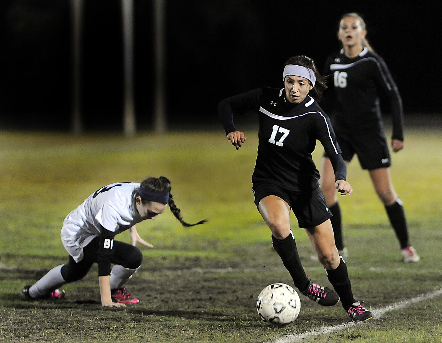 Vanessa Agudelo (No. 17) and her Douglas teammates play host to Park Vista Thursday in the regional quarterfinals.