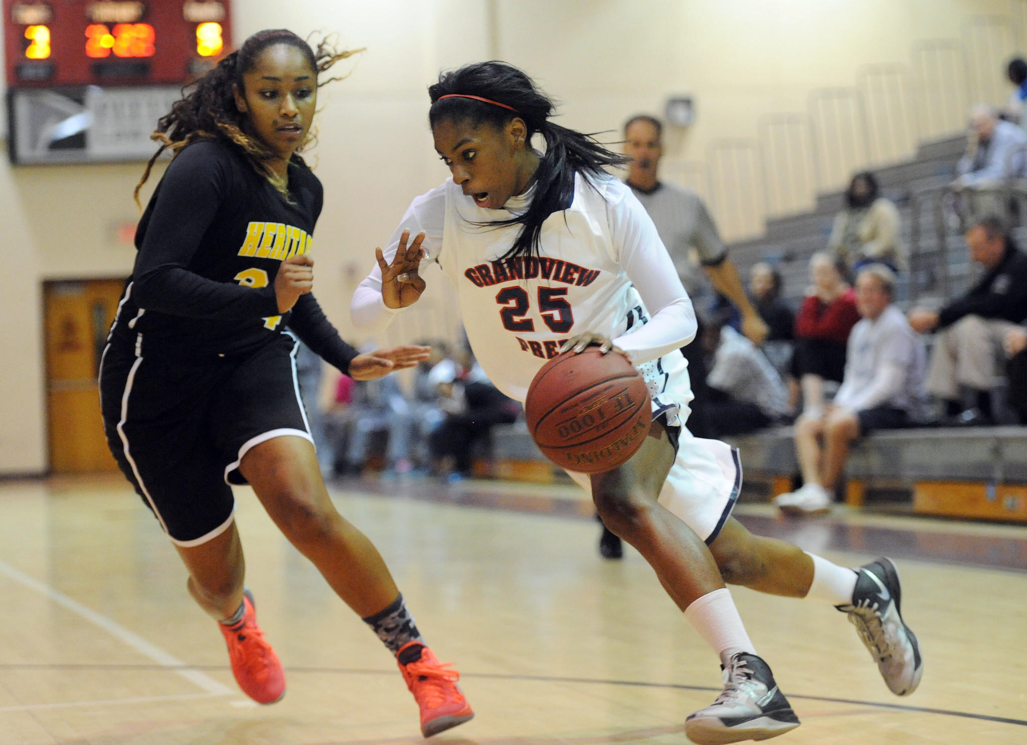 Neydja Petithomme, right, and her Grandview Prep team is No. 3 in the Sun Sentinel rankings.