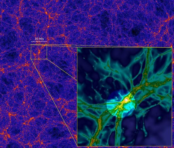 Quasar illuminates cosmic web filament