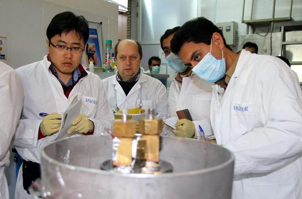 IAEA team checks the enrichment process at plant in Natanz