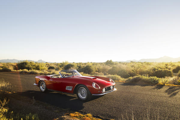 This 1958 Ferrari 250 GT California LWB Spider was the top seller at the 2014 Scottsdale classic car auctions. RM Auctions sold it for $8.8 million.