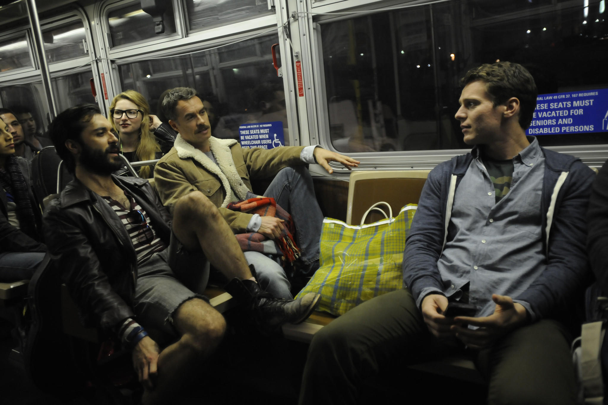 L-R: Frankie J. Alvarez, Murray Bartlett and Jonathan Groff.
