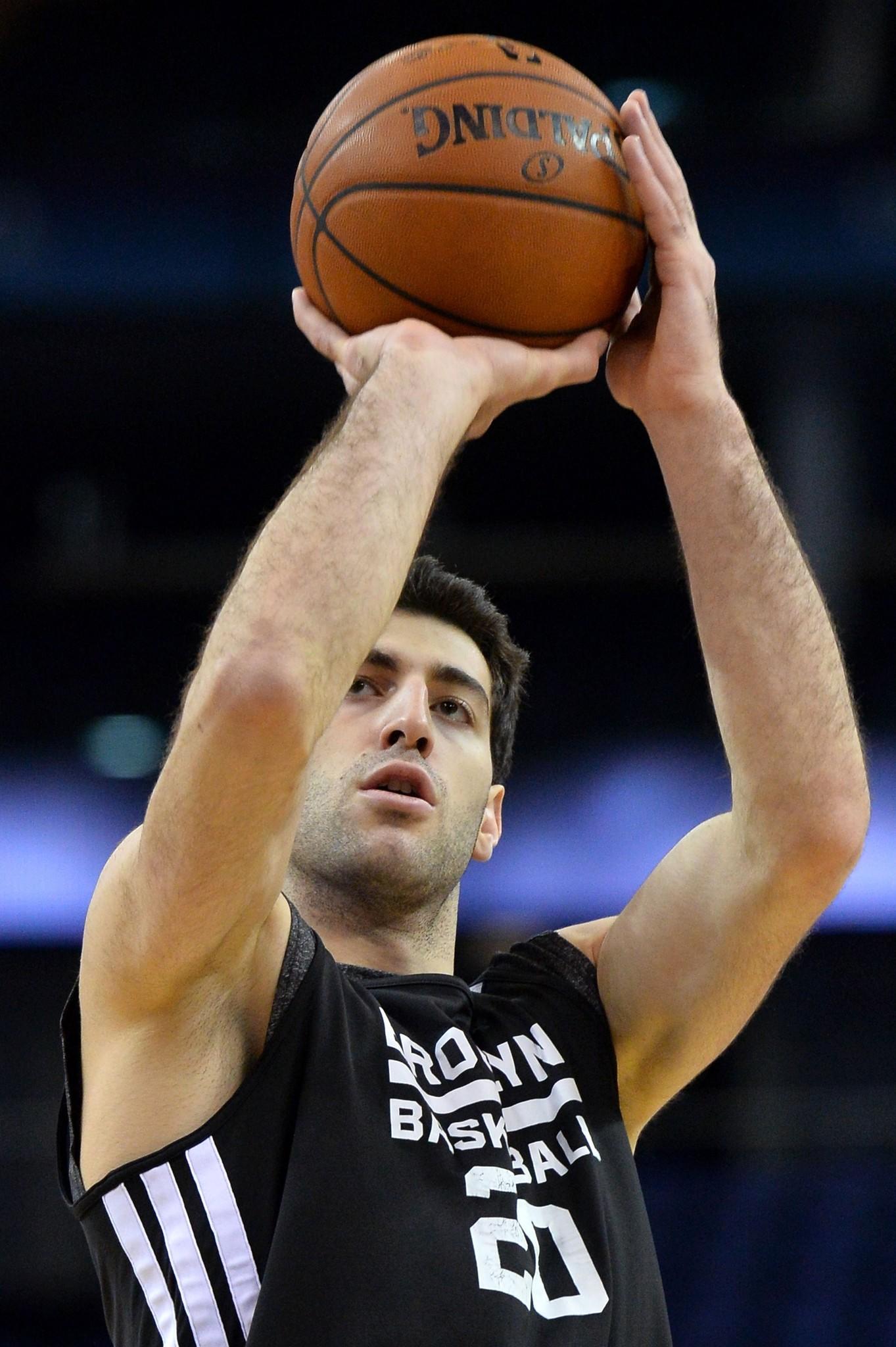Brooklyn Nets' Georgian player Tornike Shengelia.