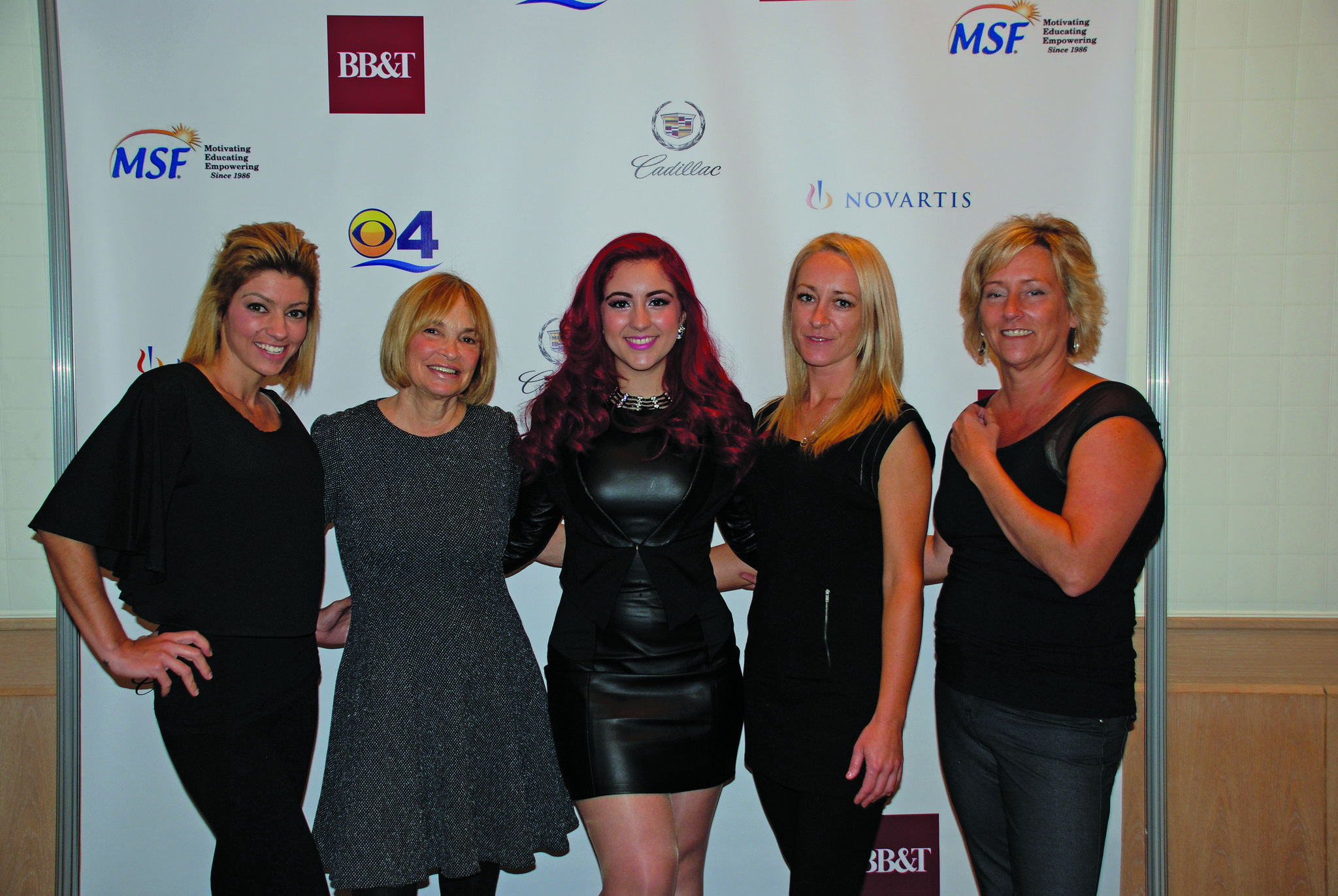 Society Scene photos - Diana Abelha, left, Perrie Gurfein, Monique Abbadie, Marta Wilczynski and Barbara Johnson supported the Multiple Sclerosis Foundation