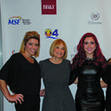 """Diana Abelha, left, Perrie Gurfein, Monique Abbadie, Marta Wilczynski and Barbara Johnson supported the Multiple Sclerosis Foundation's """"Fearless MS Fashion Show and Luncheon"""" at the Ritz-Carlton, Fort Lauderdale."""