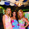 """Kelli Jackson, left, Jennifer Saviano and Nicole Saviano looked pretty in pink at the 2013 American Red Cross """"Beach Bash,"""" where more than 650 of Palm Beach's young professionals descended upon The Beach Club with friends and family for this season's """"Lilly or Louder"""" event."""