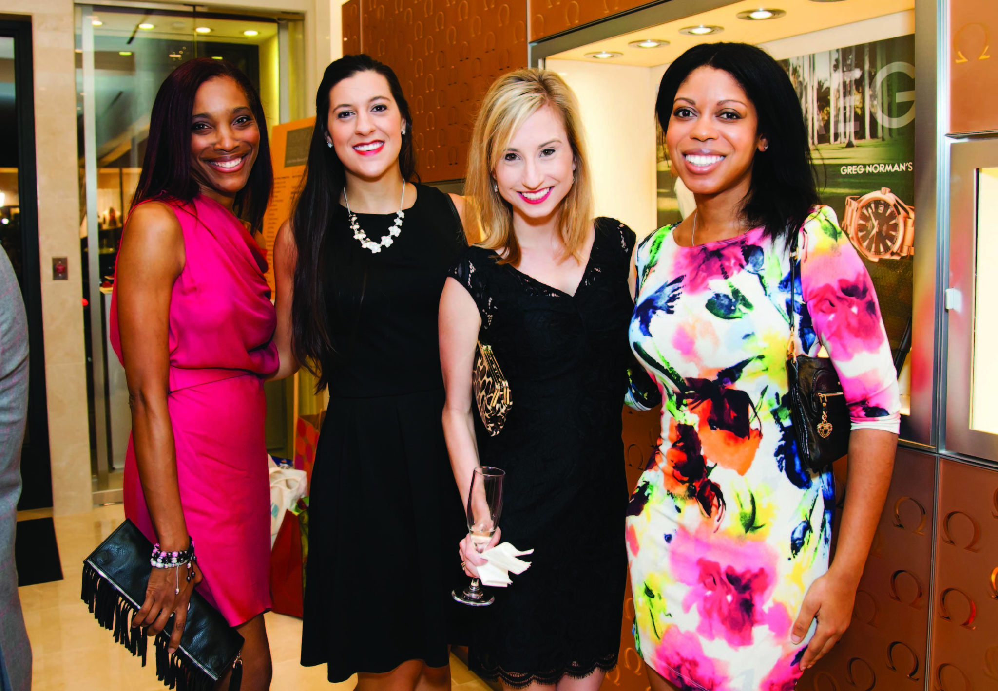 Society Scene photos - Dr. Pamela Love, left, Leah Yablong, Emily Sawyer and Jillian Kaiser were dressed to impress for OMEGA