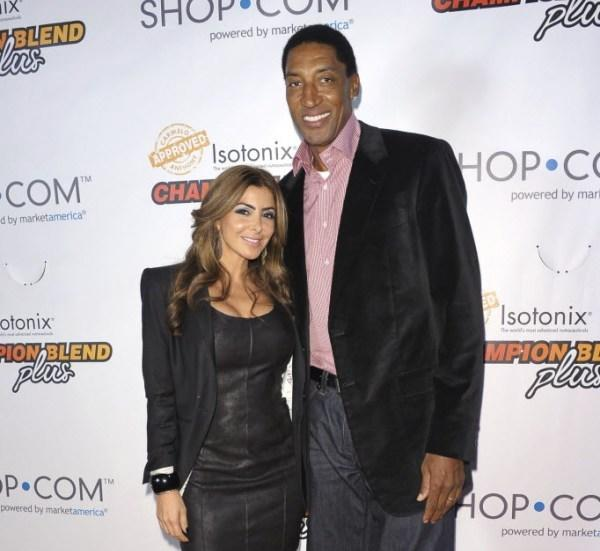 Bulls legend Scottie Pippen (right) and wife Larsa Pippen (left).