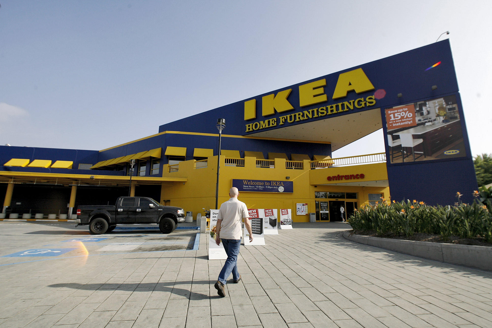 Ikea shopper goes into the N. San Fernando Rd. store in Burbank on Friday, Nov. 2, 2012.