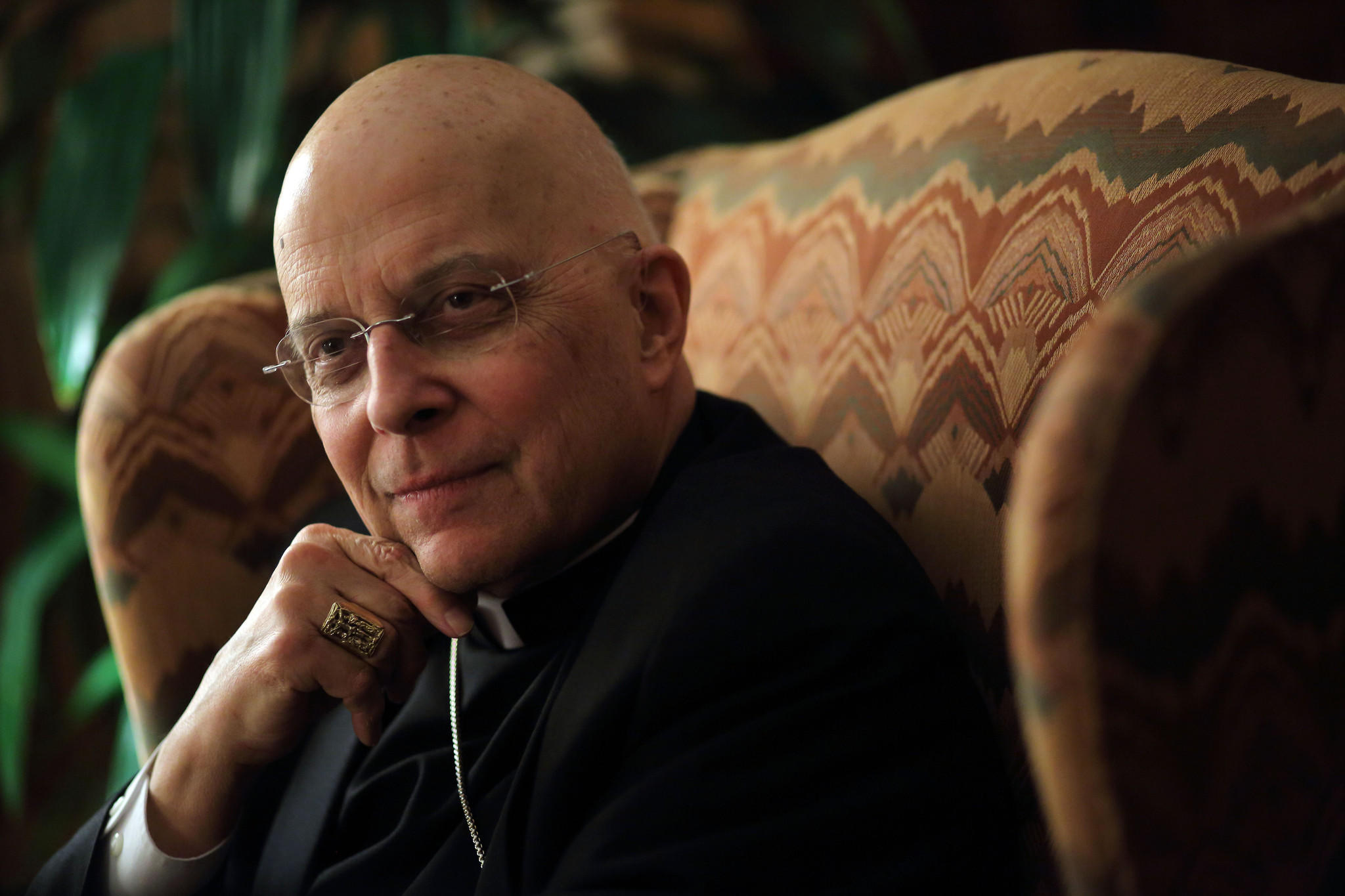 Cardinal Francis George at his residence.