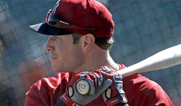Outfielder Josh Hamilton hit .250 with 21 home runs and 79 runs batted in for the Angels last season.