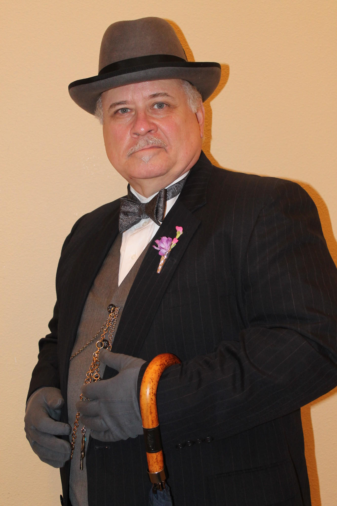"Dennis Wooldridge stars as master detective Hercule Poirot in Agatha Christie's ""Black Coffee."""